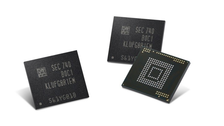 Samsung starts production of 512GB eUFS chips, could appear in Galaxy S9