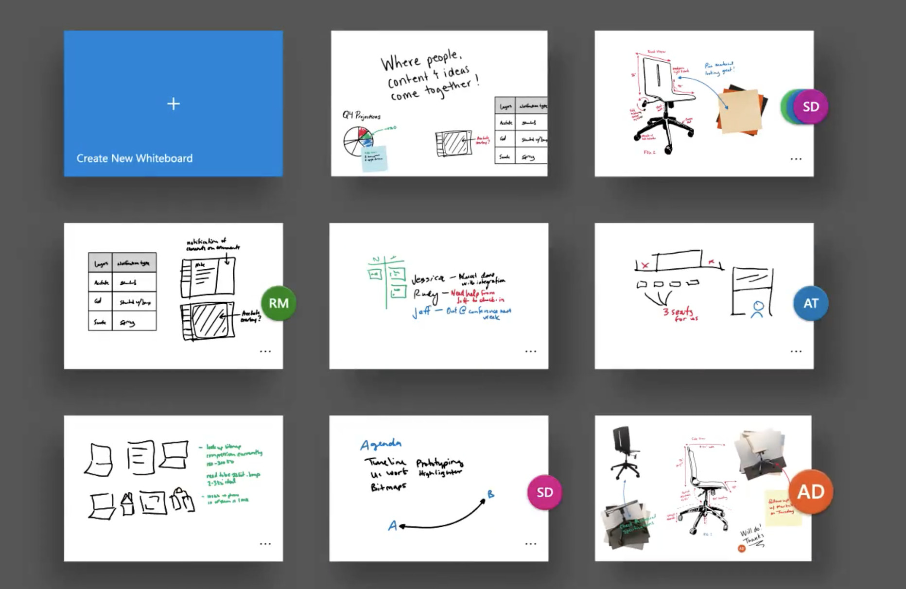 Microsoft's Whiteboard Preview app is all about collaboration