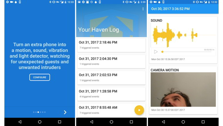 Snowden's Haven app turns phones into home surveillance devices