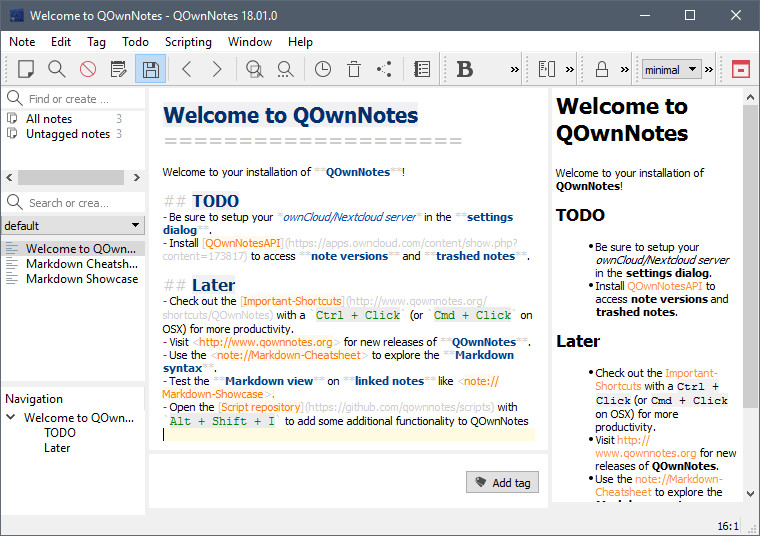 QOwnNotes 18 01 1 Build 3421 - Neowin