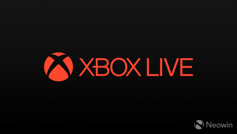 Red logo of Xbox Live on a dark background