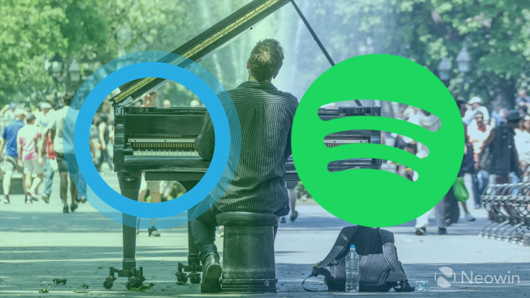 how to connect spotify to cortana