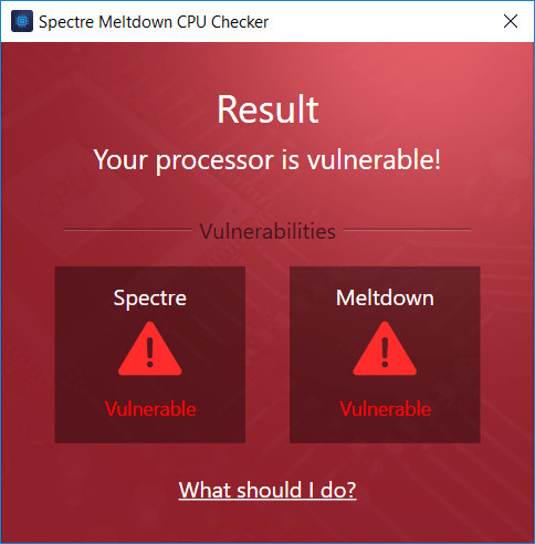 Ashampoo Spectre Meltdown CPU Checker