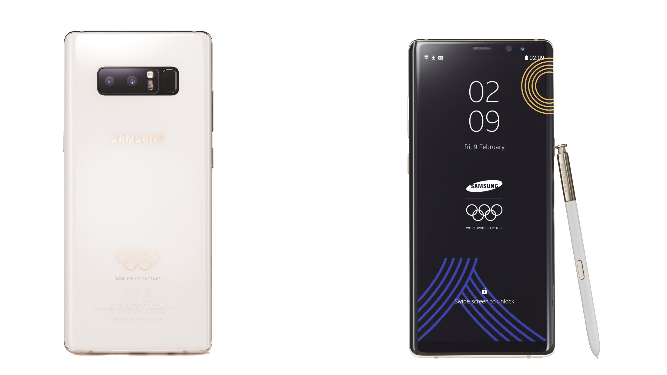 Samsung Hands Out Limited-Edition Olympic-Themed Galaxy Note 8