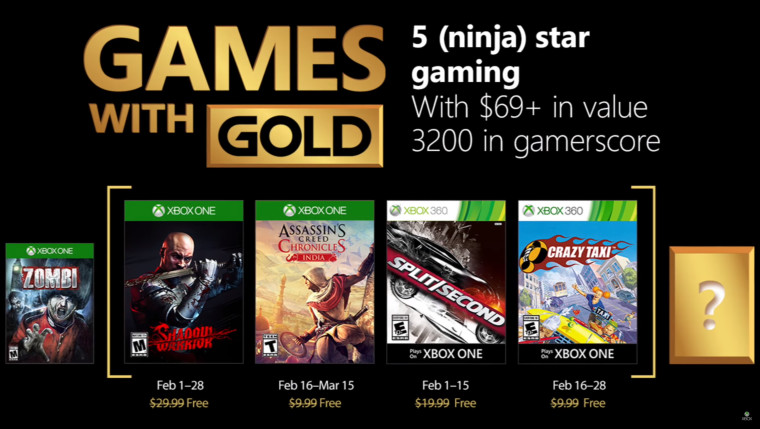 Xbox Games With Gold February 2020.Xbox Games With Gold For February 2018 Announced Neowin