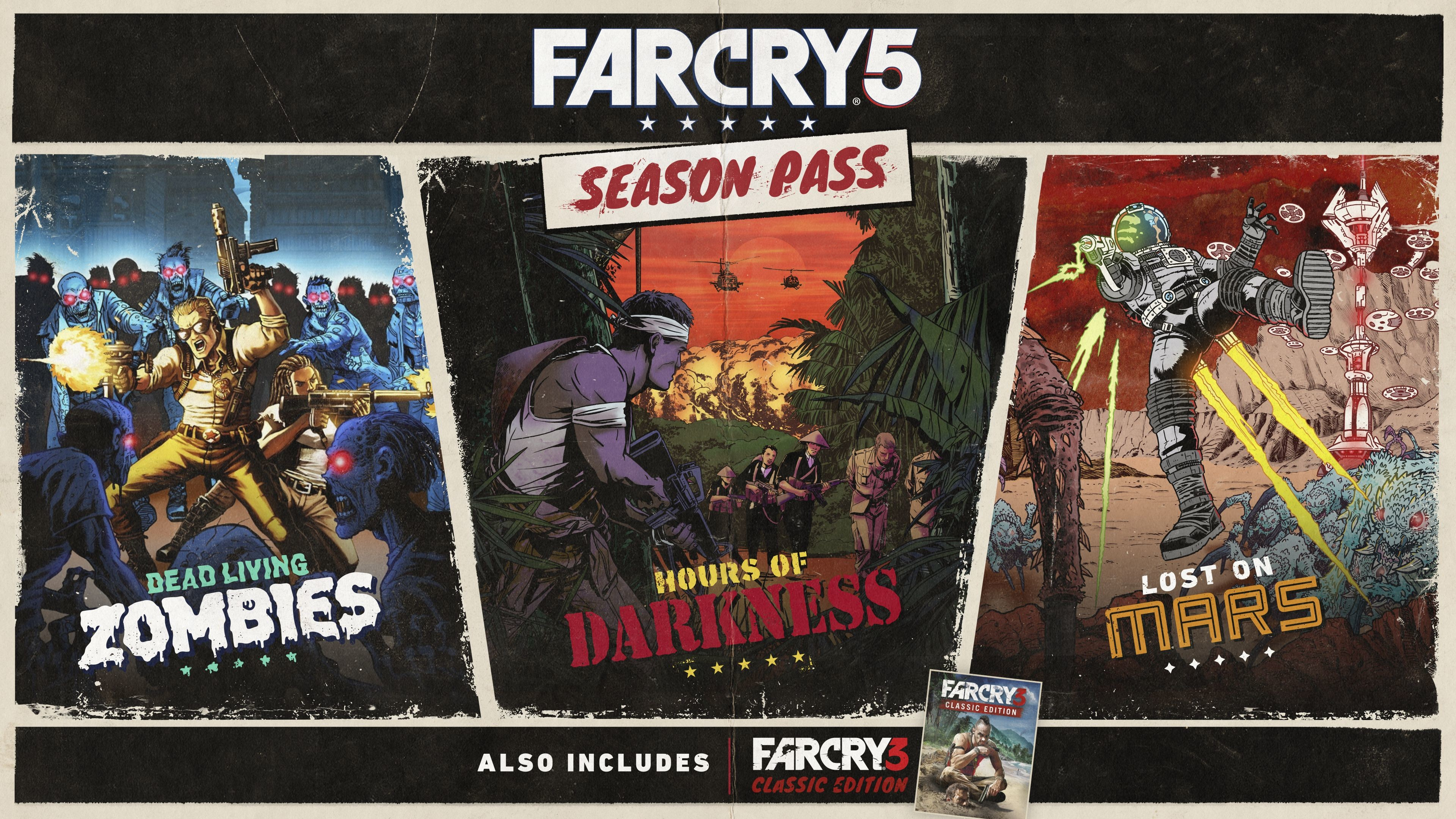 Far Cry 5 Season Pass features alien spiders and zombies