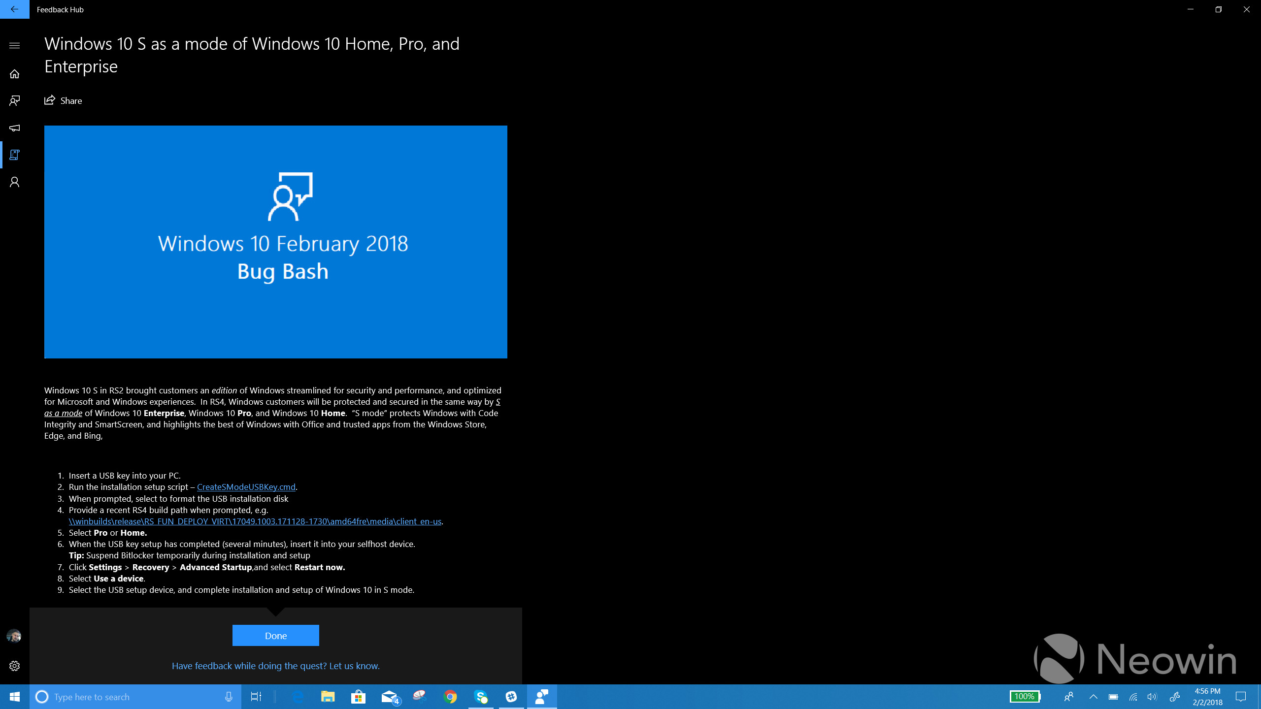 Windows 10 Build 17618 is now available with major changes for Insiders