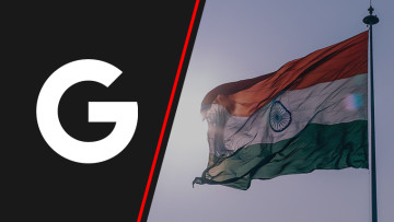 India flag on the right and Google icon on the left