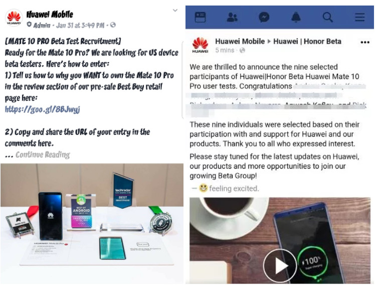 Huawei accused of canvassing fake reviews for the Mate 10 Pro
