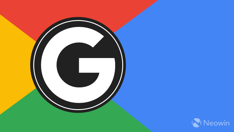 Google's 'G' logo on a red, yellow, blue, and green background