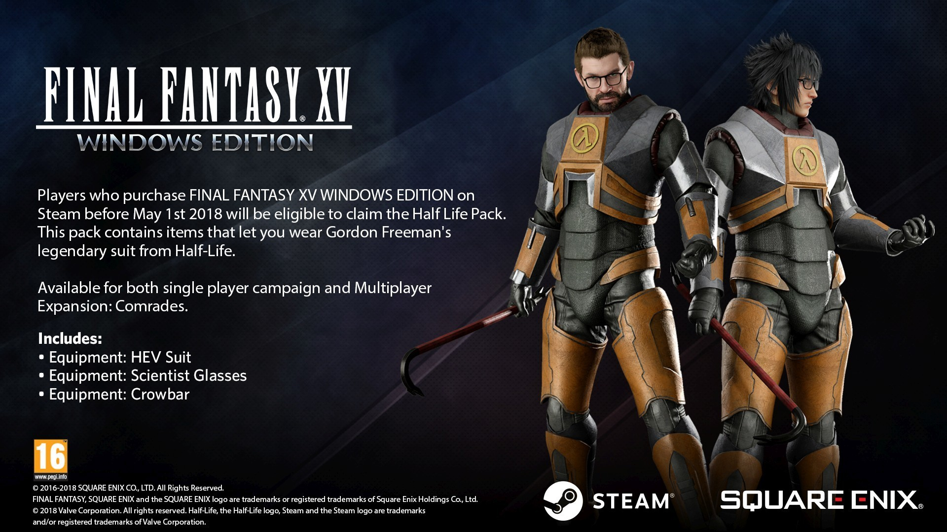 Half-Life's Gordon Freeman Comes To Final Fantasy 15 PC