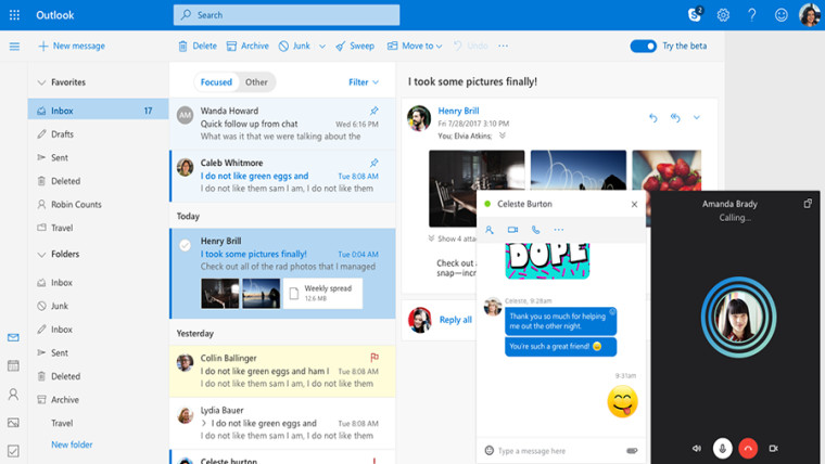 fc0ff6c12e7 Microsoft to roll out the new Mail experience to all Outlook.com ...