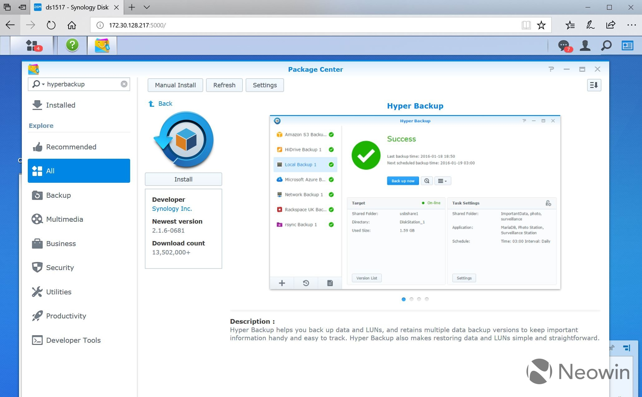 Synology expands C2 backups from Europe to the entire world