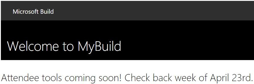 microsoft to announce build session schedule the week of april 23