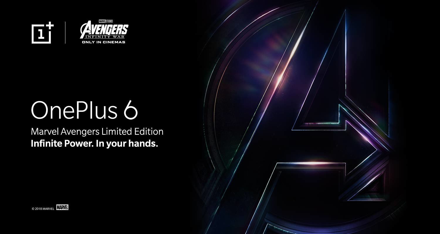 """OnePlus 6 Coming with """"Avengers Infinity War"""" Special Edition"""