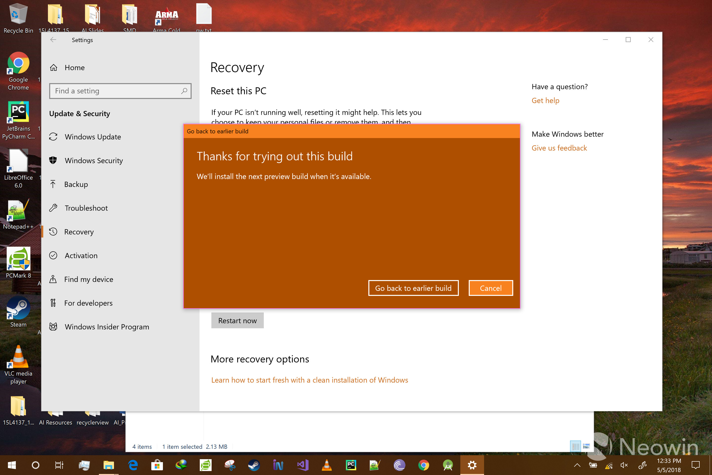 Here's how to roll back the Windows 10 April 2018 Update - Neowin