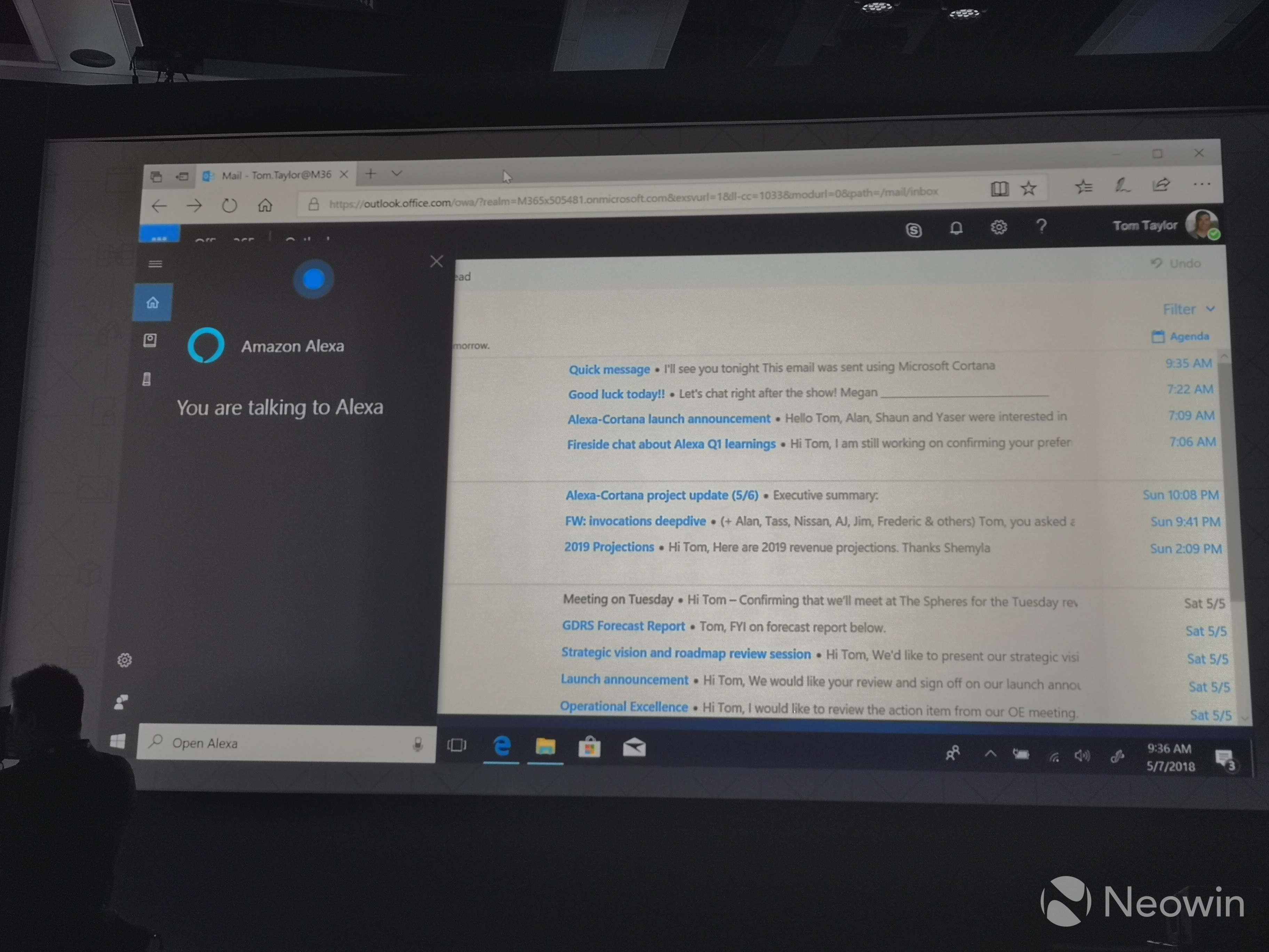 Cortana, open Alexa: Microsoft demos voice assistant