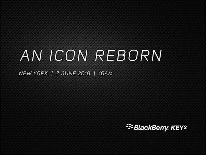 The BlackBerry KEY² Will Launch On June 7