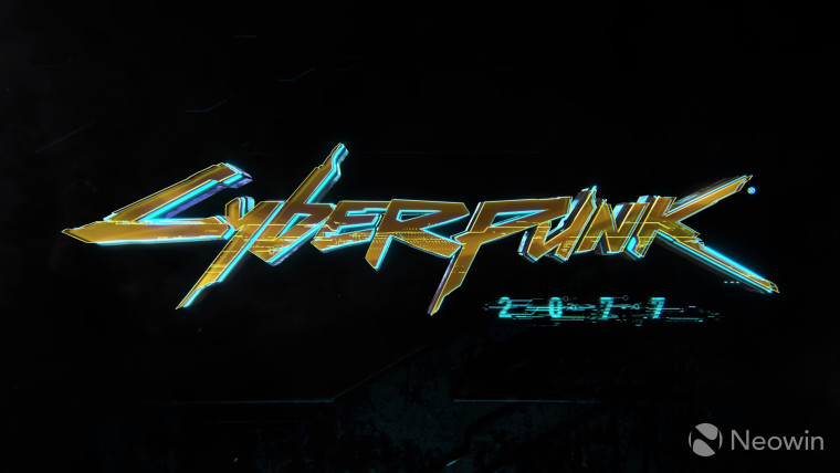 A Cyberpunk 2077 graphic on a black background