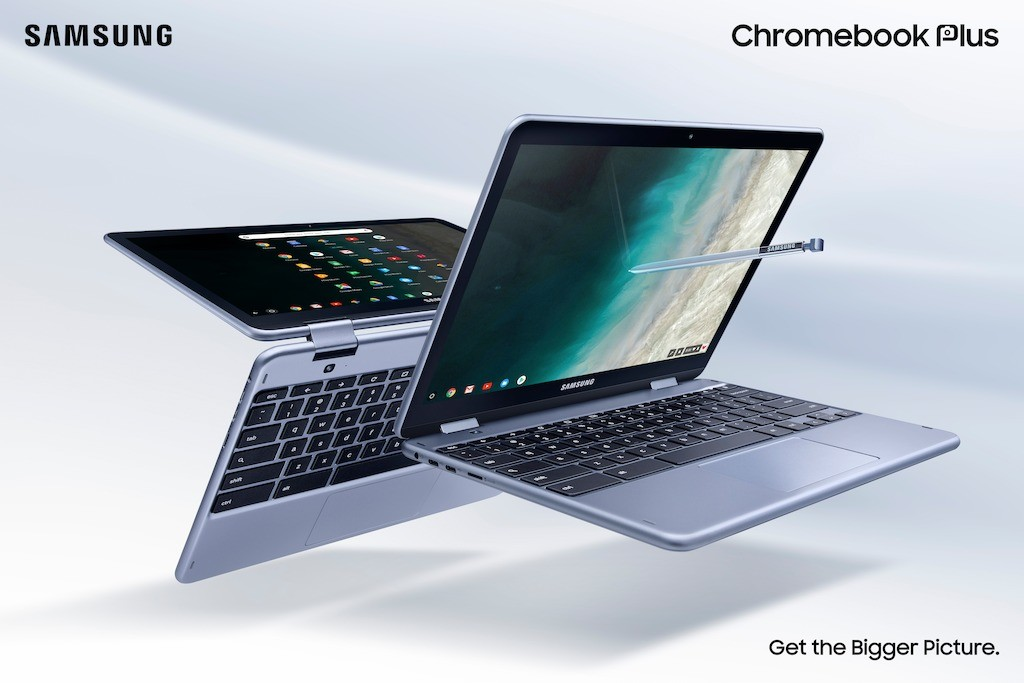 Samsung announces the Chromebook Plus (V2), a convertible with a built-in pen