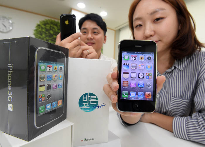 In Korea suddenly resumed sales of the iPhone 3GS for $50