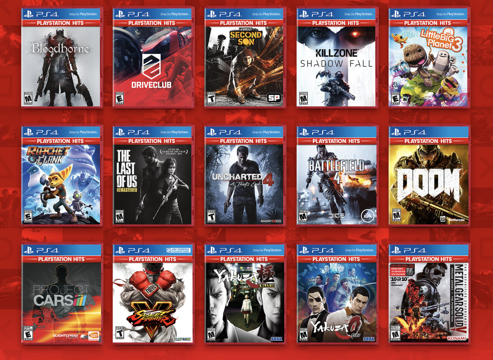 Sony launch PlayStation Hits, fantastic titles for only $20