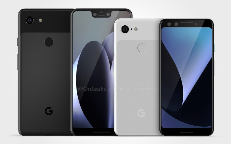 Leaked renders show Google Pixel 3 without notch and Pixel 3