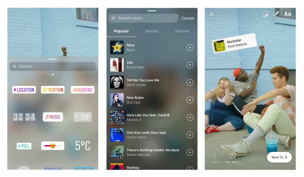 You can now add licensed music to your post in Instagram