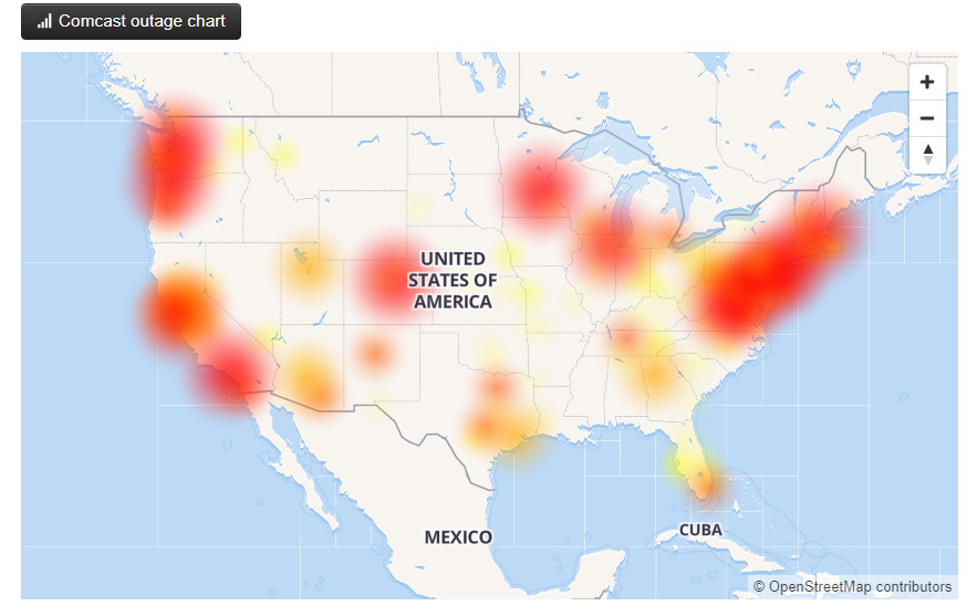 Comcast says fiber cut causes nationwide service outage for businesses, customers