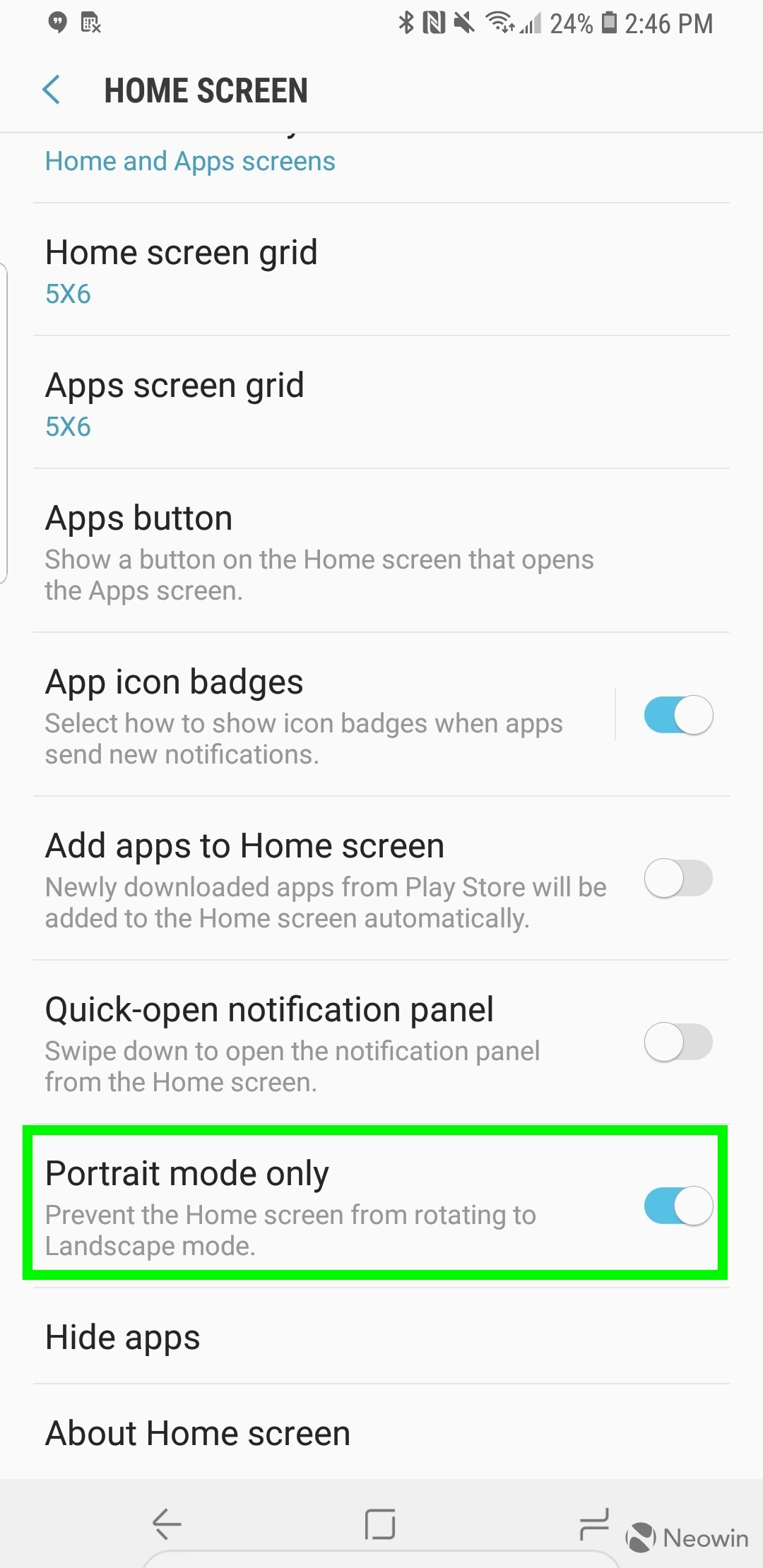 Samsung Experience Launcher update adds home screen rotation