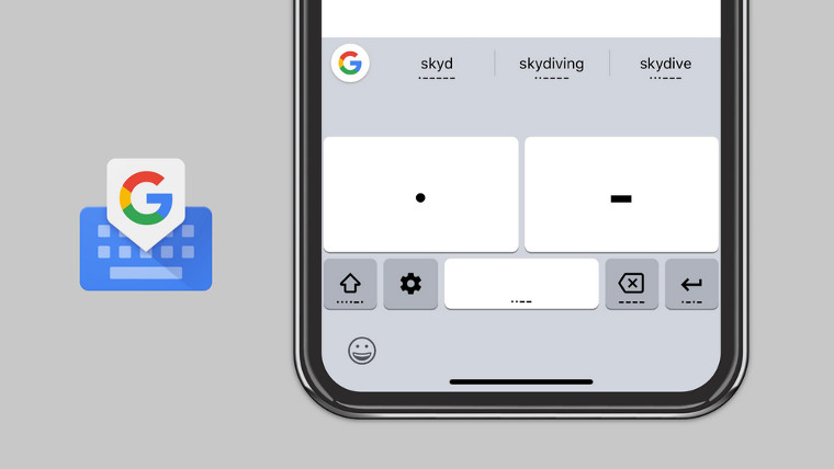 Gboard lets you communicate in Morse Code