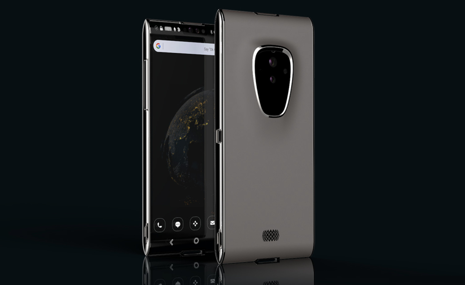 Here's the final design of the Finney blockchain phone