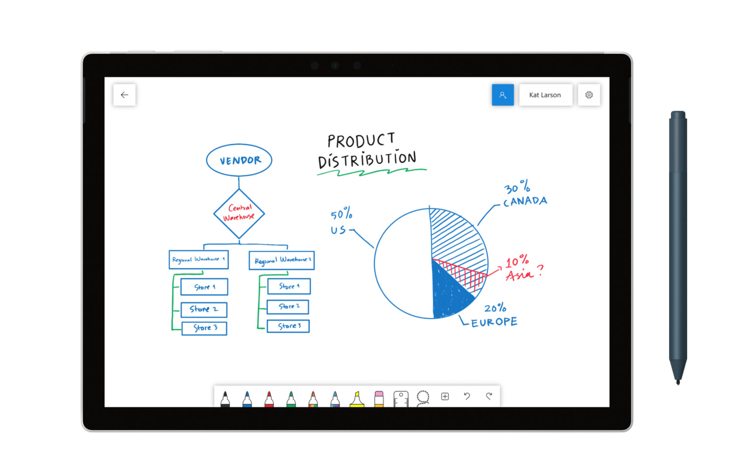 Microsoft's Whiteboard collaboration app debuts for Windows 10, coming to iOS