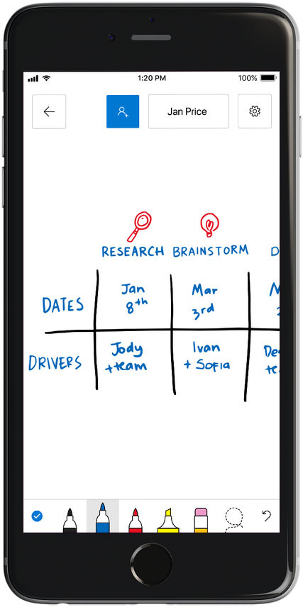 Microsoft Whiteboard is now generally available; iOS ...
