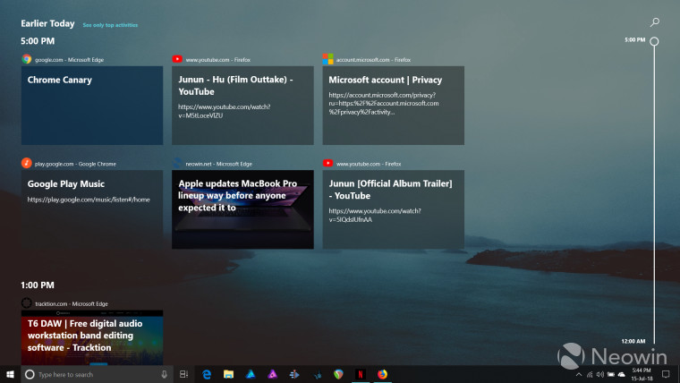 Microsoft now has an official Chrome extension for Windows Timeline