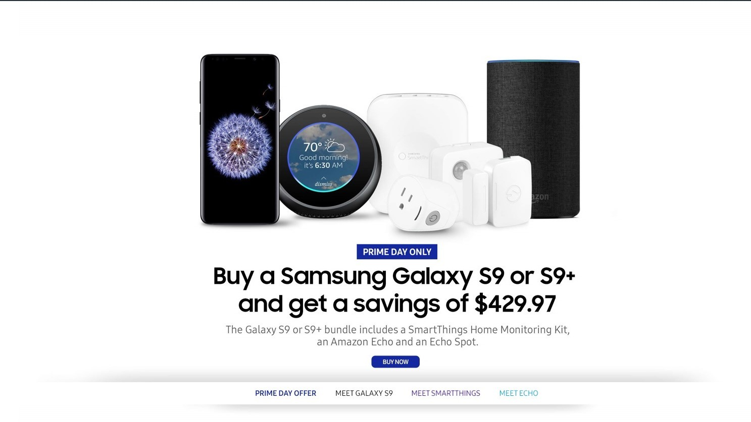The $430 savings on the Galaxy S9 and S9+ Prime Day bundles