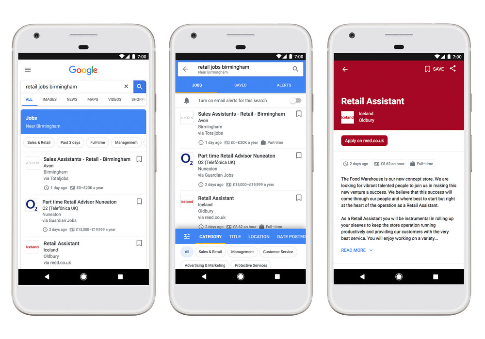 Google Job Hunt Search Feature is now available in United Kingdom region