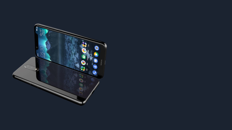 The Nokia X5 features a notch at the front and dual cameras at the back