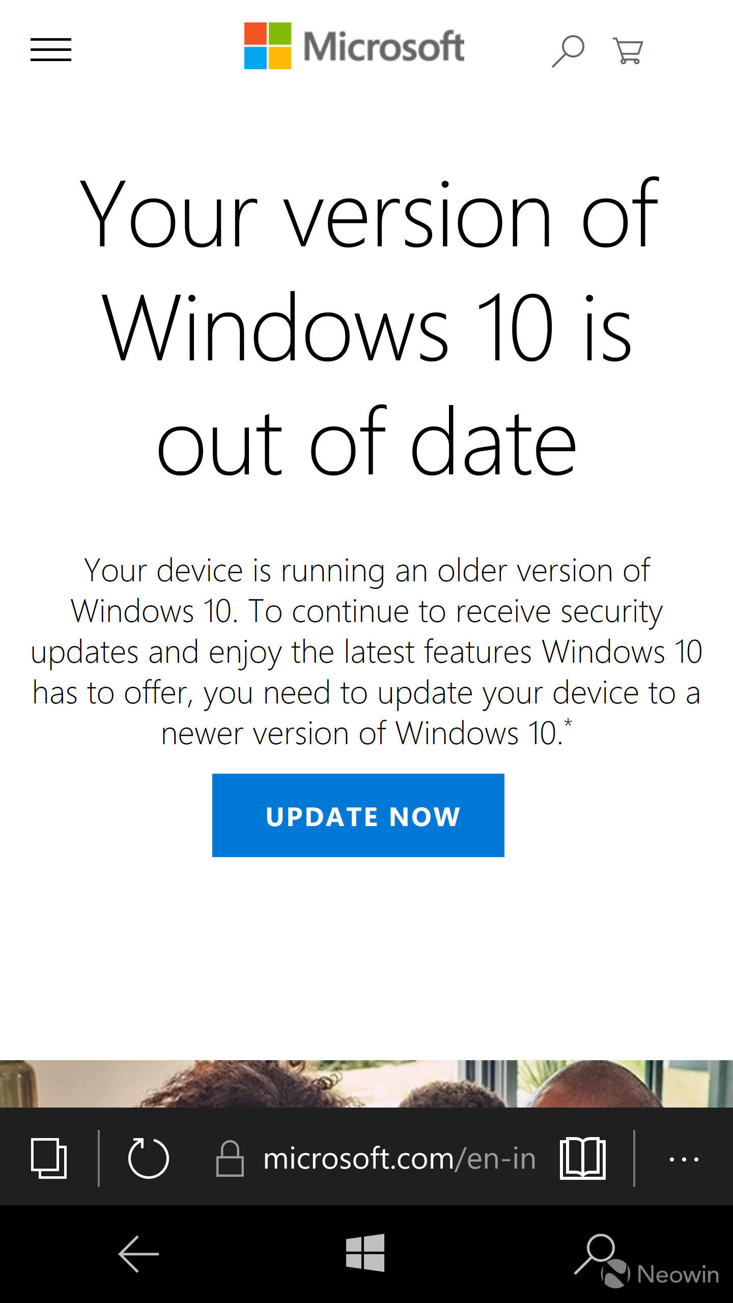windows 10 mobile prompts users to update their pc as anniversary