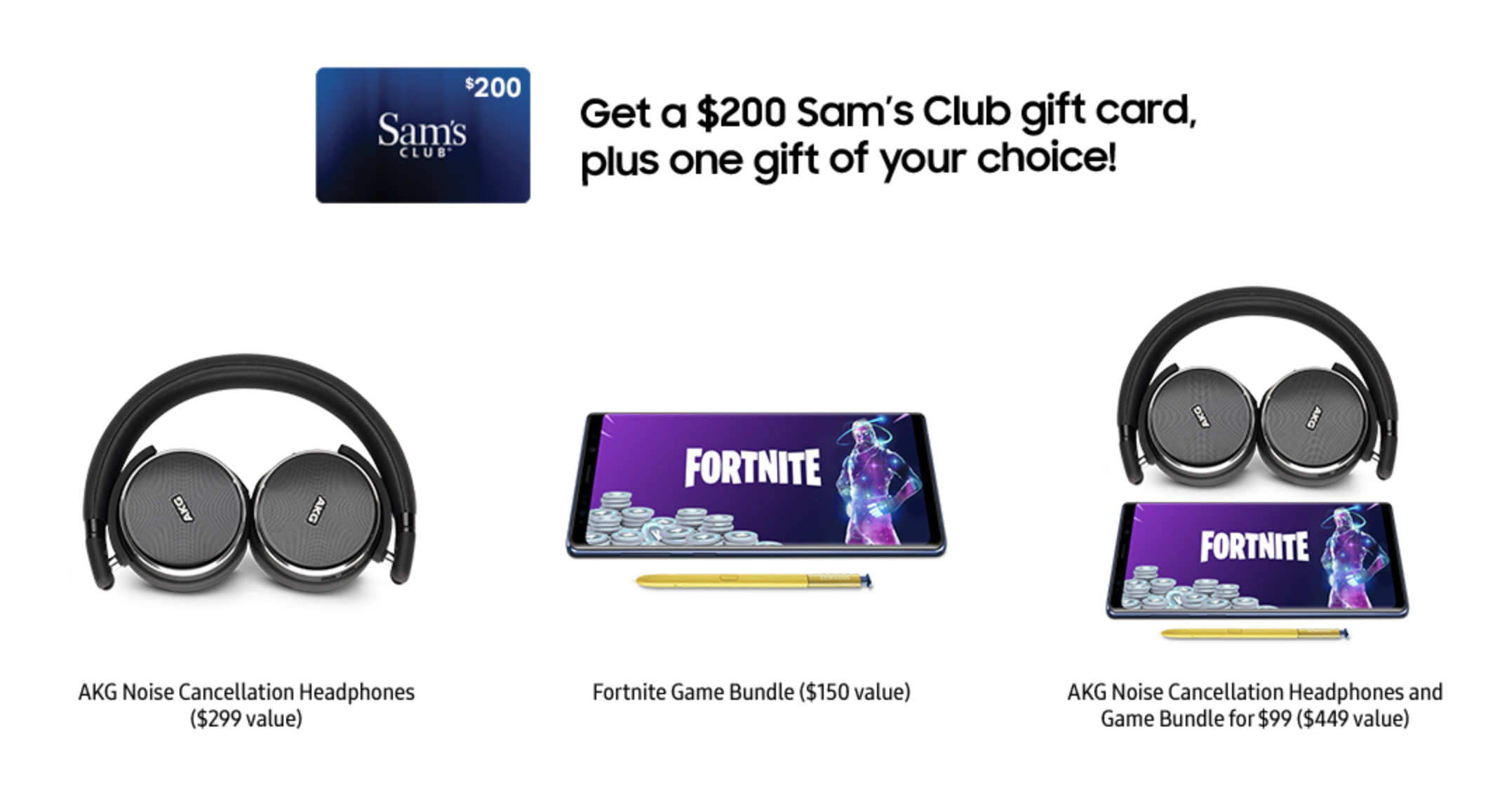 sam s club is offering a 200 gift card as a pre order bonus for the