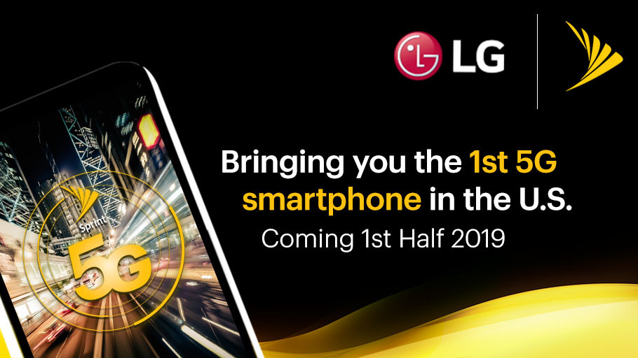 LG and Sprint to Ship First 5G-Equipped Smartphone in 2019