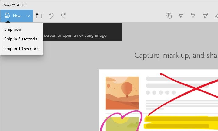 Microsoft's Screen Sketch gets renamed to Snip & Sketch, new
