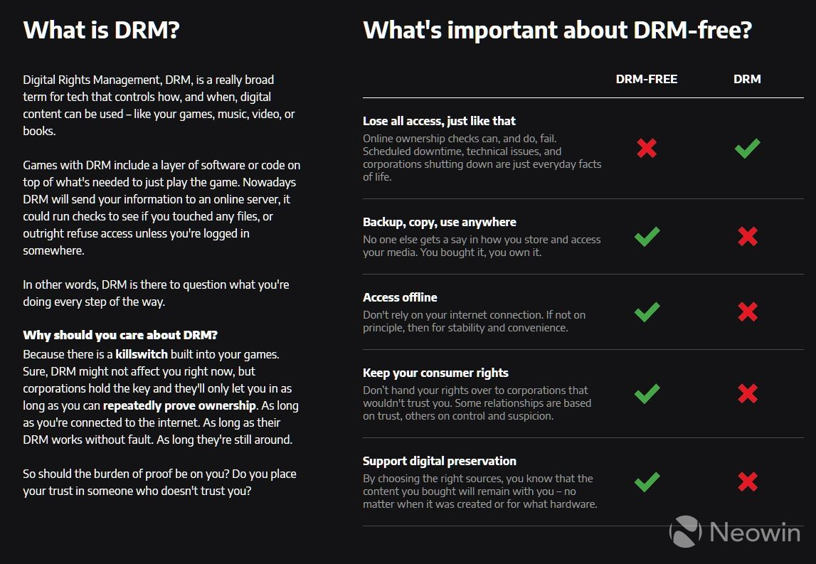 FCK DRM: GOG launches new initiative to promote DRM-free