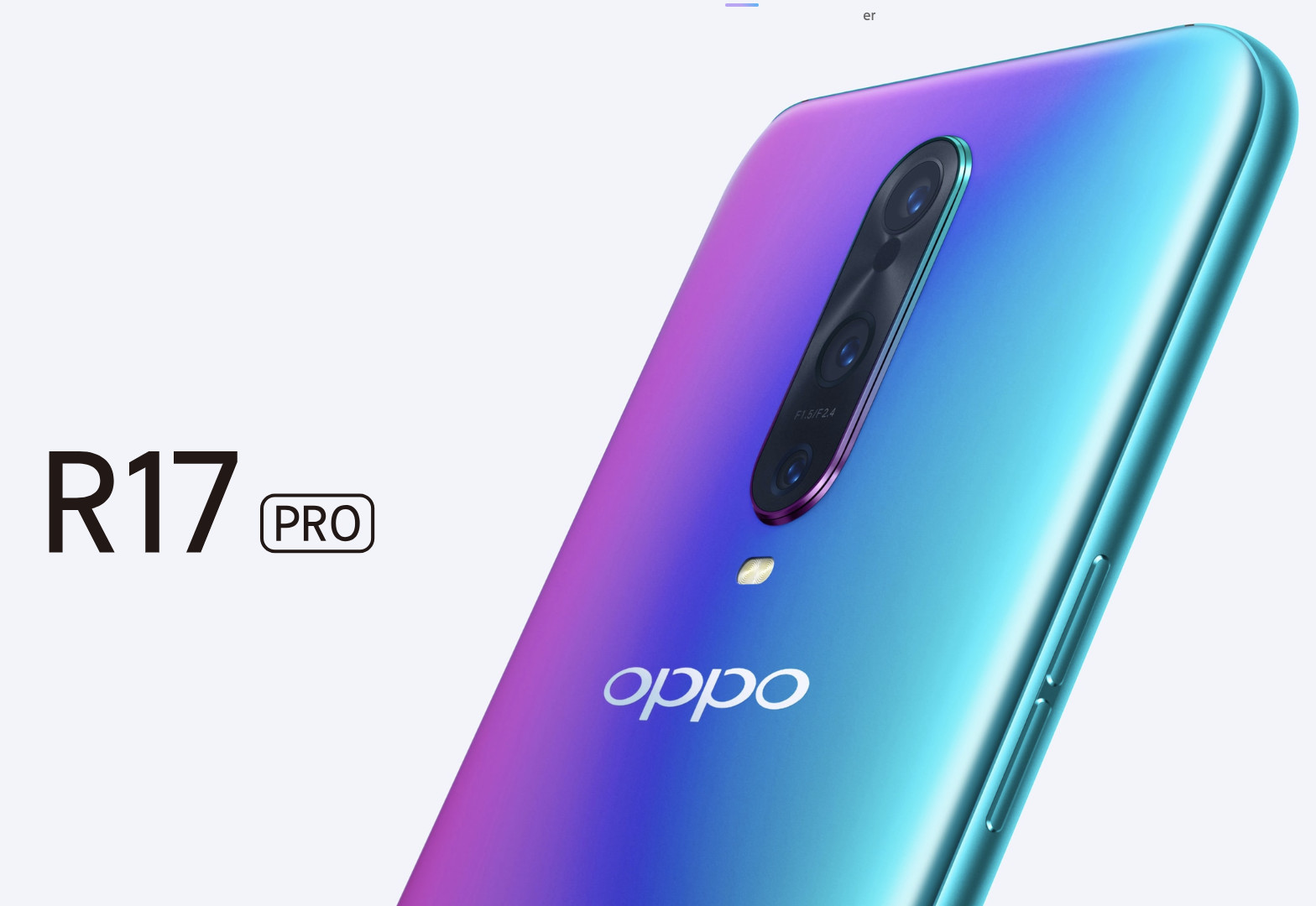 Oppo's R17 Pro has an in-display fingerprint reader, dual batteries