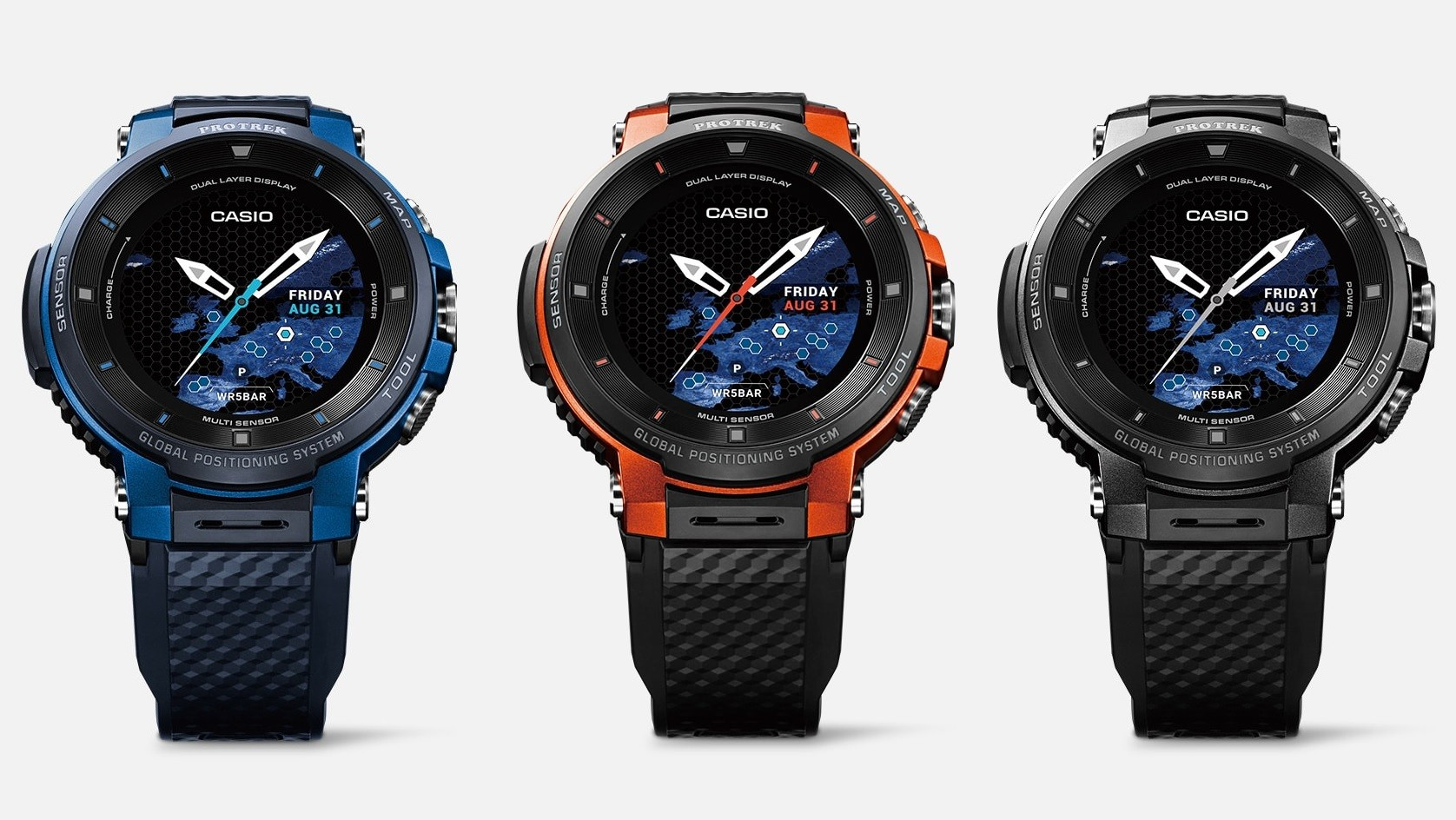 Casio World Map Watch.Casio S New Pro Trek Smart Supports Offline Color Maps And Gps