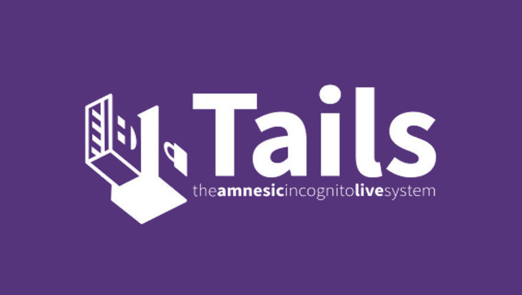 The Tails logo on a purple background