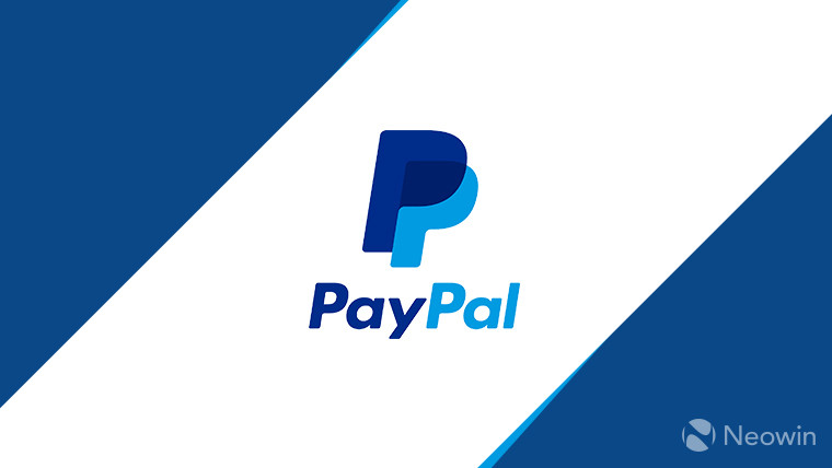 PayPal logo in white and blue