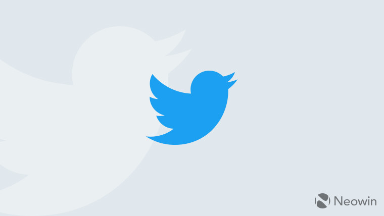 Blue Twitter bird on a grey background