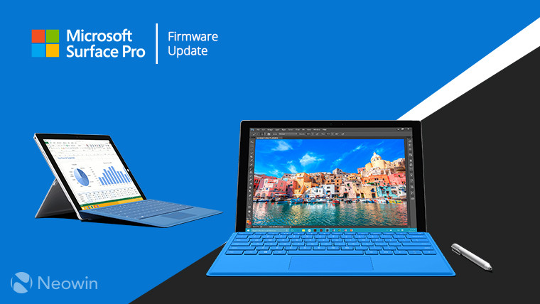 Microsoft's Surface Pro 3 and 4 get a bunch of firmware updates - Neowin