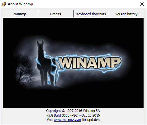 Winamp Version 5.8